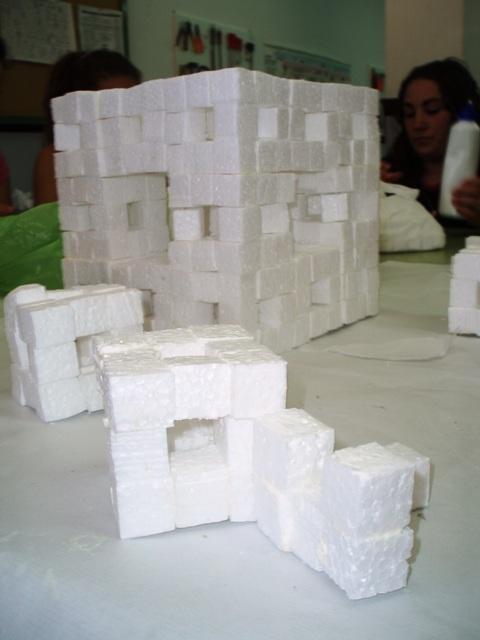 Montando una esponja de Menger