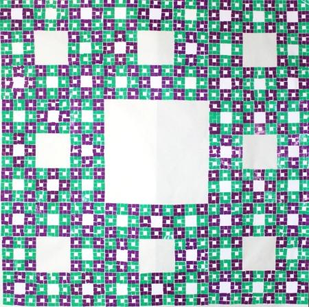 6. EVEN-MODEL-modelo de alfombra con número par con esquinas verdes